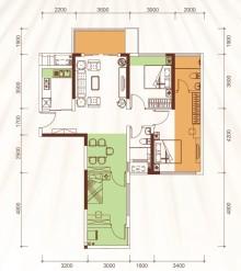 1、2、3号楼02户型78m²
