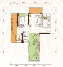 1、2、3号楼01户型78m²