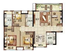 绿地新里海玥公馆125m²四房两厅两卫