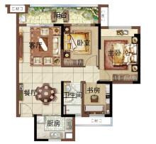 绿地新里海玥公馆85m²3房2厅1卫