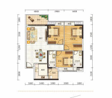 阔景山居3房2厅2卫110平