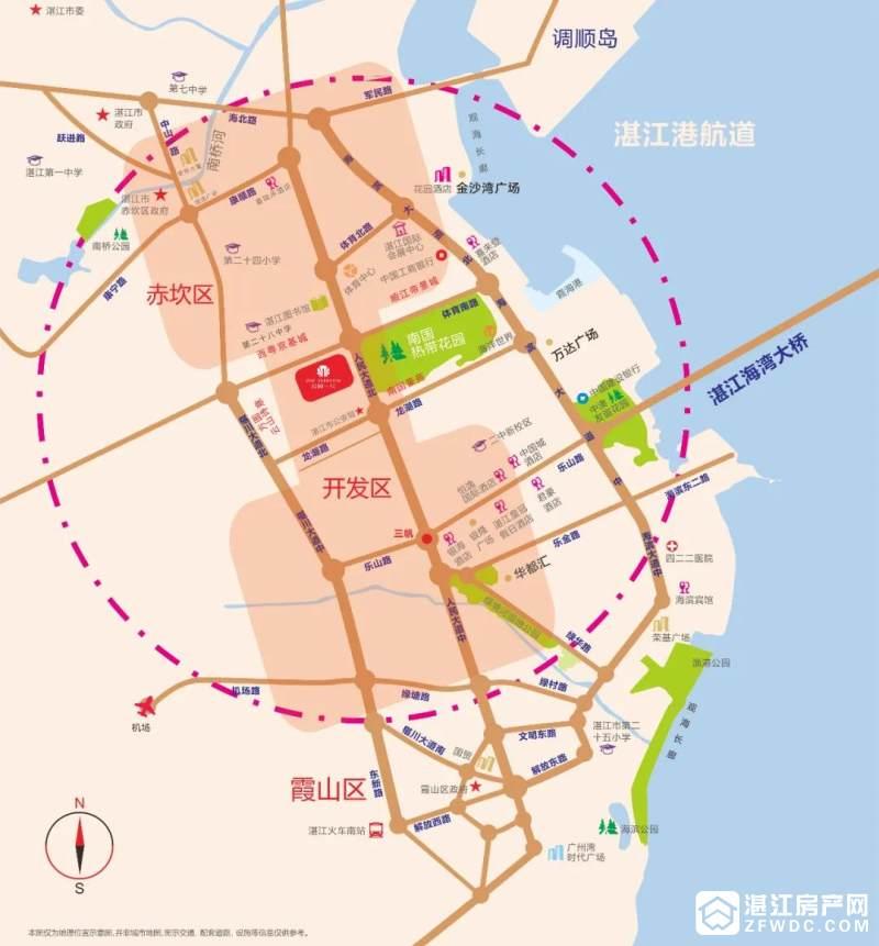 湛江公园一号区域图
