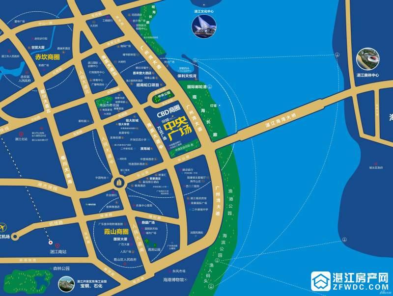 荣盛中央广场区域图